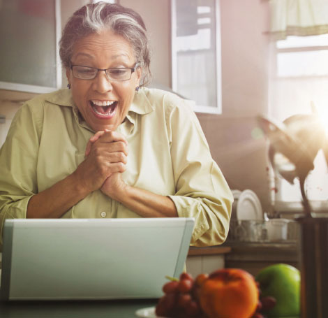 Retired woman discovering how retirement villages work