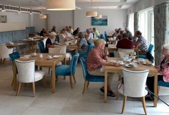 Afternoon tea at Mount Battenhall retirement village