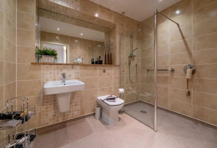 Bathroom in Boughton Hall retirement apartment