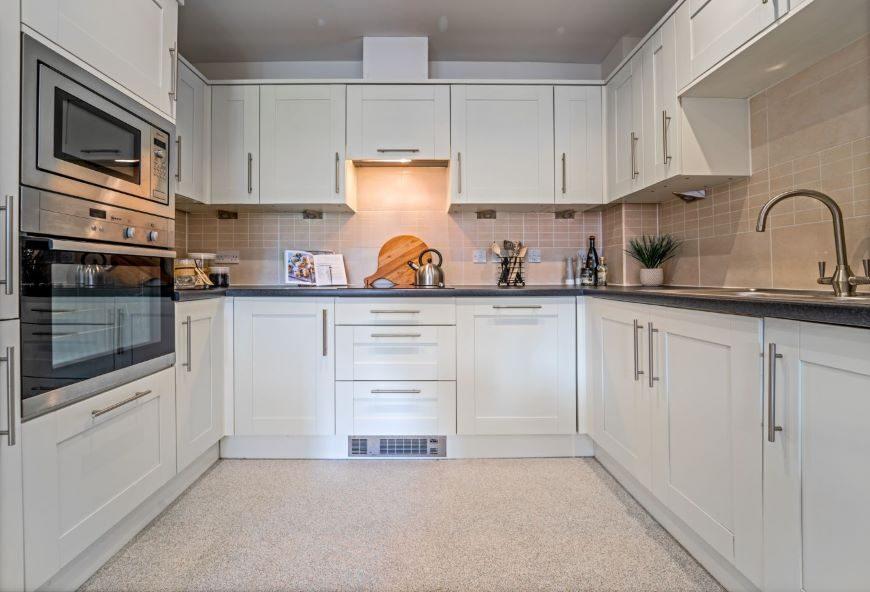 Kitchen in Boughton Hall retirement apartment