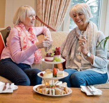 Afternoon tea at the Mount Battenhall retirement village restaurant