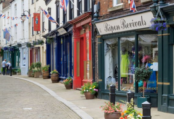 Enjoy an array of boutique shops in Ripon