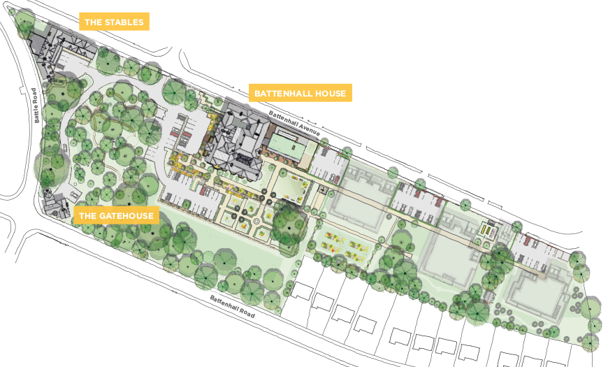 Siteplan of Mount Battenhall retirement village in Worcester
