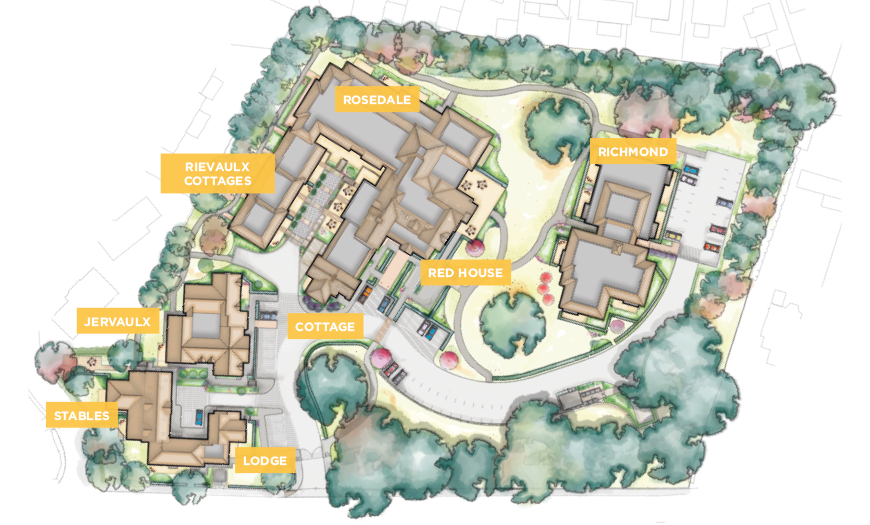 Siteplan of The Red House retirement village in Ripon North Yorkshire